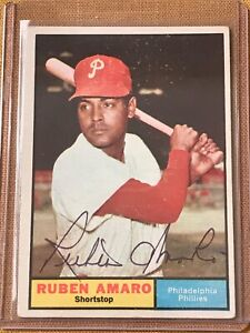 1961 Topps Autograph #103 RUBEN AMARO Phillies  Auto Signature - Set Break