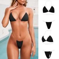 Women Sexy Swimwear Micro Bikini Set Bra G-string Thongs Ladies Lingerie Bathing