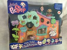 NEW Littlest Pet Shop Pets Only Clubhouse Playset 2 Exclusive Pets SEALED RARE