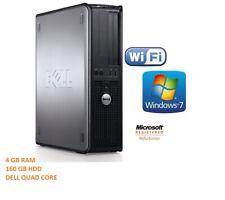 DELL QUAD CORE DESKTOP PC 9.32GHZ 160GB 4GB WINDOWS 7, COMPUTER TOWER 1 YR WRNTY