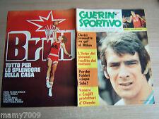 GUERIN SPORTIVO=NR°32 1974 ANNO LXII=SERGIO CLERICI =OLANDA=CRUYFF=FEMI BENUSSI