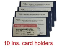 Ten (10) AUTO CAR TRUCK INSURANCE REGISTRATION ID CARD CASE WALLET HOLDER