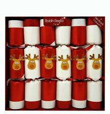 NEW Robin Reed English Holiday Christmas Crackers Pack of 6 Racing Reindeer