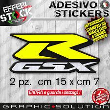 Adesivi Stickers Kit SUZUKI GSX R 600 750 1000 K FLUO GIALLO CROMO TOP QUALITY