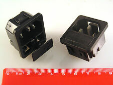 IEC Snap Fit Chassis Plugs 10A 250V with 20mm Fuse Drawer 2 Pieces B7B OL0309b