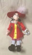 """Peter Pan CAPTAIN HOOK 20"""" Plush Stuffed Toy Doll DISNEY STORE Authentic Genuine"""