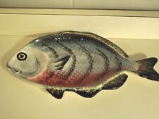 Ceramic Fish Shaped Tray Platter As Is