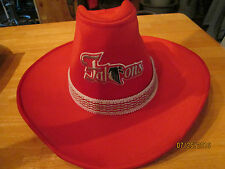 Great Vintage Red Atlanta Falcon Cowboy Hat Size Medium