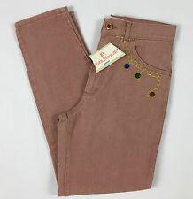 Laura Biagiotti jeans rosa salmone donna nuovo vita alta strass w29 I42 44 T421
