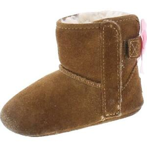 Ugg Jesse Bow II Brown Suede Crib Boots Shoes 2/3 Medium (B,M) Infant BHFO 2026