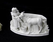 Bisque porcelain antique Group goat planter jardiniere statue