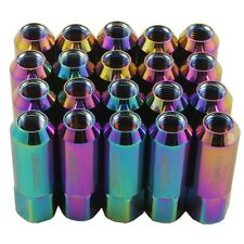 NEO CHROME 20PC 12X1.25MM 60MM EXTENDED FORGED ALUMINUM TUNER RACING LUG NUT