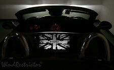 Mini Cooper Roadster Wind Deflector lighted blocker windscreen windschott white
