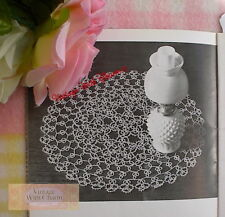 Vintage Doily Tatting Pattern 'Emerald'. Finished Size 14 ins. In Diameter