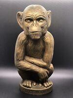 """Vintage Heublein - The Brass Monkey - Plastic Coin Piggy Bank 12"""""""