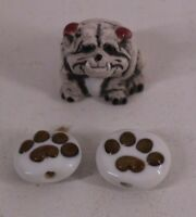 bulldog and paws ceramic beads for jewelry making free ship!