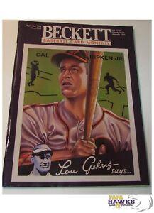 September 1995 Beckett Baseball Price Guide - Cal Ripken Jr. - Lou Gehrig