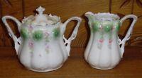 Erdmann Schlegelmilch Germany RS Prussia Porcelain Creamer & Sugar Set