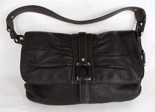 CLARKS DARK BROWN LEATHER SHOULDER BAG HANDBAG