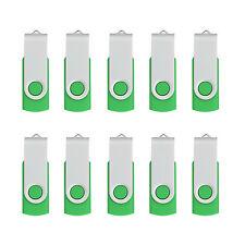 LOT 10 4GB USB 2.0 Flash Drive Swivel Flash Memory Stick U Disk Thumb Pen Drive