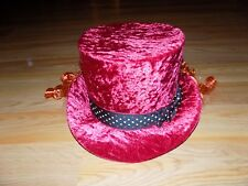 Disney Parks Youth One Size 55cm Alice in Wonderland Mad Hatter Costume Top Hat