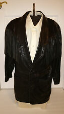 Maxwear By Robert Maxwell Leather Fringe And Pony Hair Jacket Mens Size 38