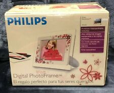 """NEW Philips Digital Photo Frame 7"""" LCD INTERCHANGEABLE FRAME COLORS Model 7FF1MS"""