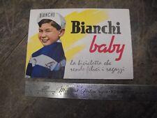 Catalogo Bianchi Baby 1956 brochure bici epoca bicicletta raro eroica vintage