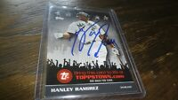 2009 TOPPS TOWN HANLEY RAMIREZ AUTOGRAPHED BASEBALL CARD