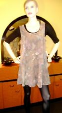 UCW (UnderCoverWear) Lovely S/L Dress,Sz 14, NWOT, Fab for Trans Season Layering