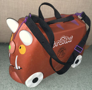 Trunki 18L Gruffalo Ride-on Kids Suitcase - Brown Strap Key
