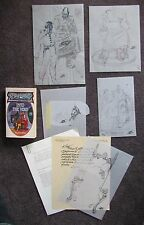 KELLY FREAS COVER PB BOOK INTO THE VOID W/3 PRELIMINARY SKETCHES & MORE