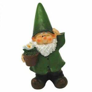Woodland Wilf Pots The Plants Decorative Garden Gnome Novelty Resin Ornament