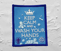 Keep Calm and Wash Your Hands Badge / Patch Scouts Girl Guides Camp Blanket