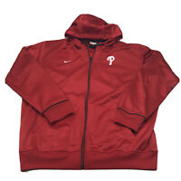 Nike Fit Therma Red MLB Philadelphia Phillies Full Zip Jacket Zip Up Size XL