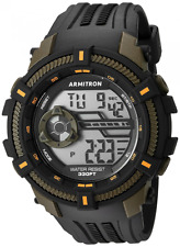 Armitron Men's Black Resin Watch, 100 Meter WR, Chronograph, 40/8384OGN