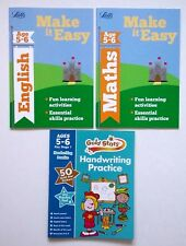 Letts Make it Easy English & Maths Ages 5-6 yrs (set of 3 workbooks) NEW!!!!