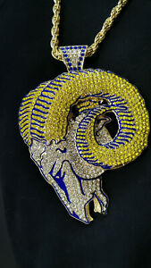 Los Angeles Rams NFC National Football Necklace Fan Design