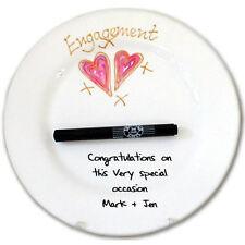 Engagement Gift Signature Plate (Round)