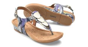 Comfortiva Summit Purple Green Multi Thong Wedge Sandal Women's sizes 6-10/NEW!!