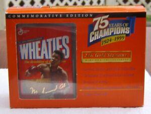 NIB Wheaties Muhammad Ali 24K Gold Signature Mini Box 75 Years of Champions