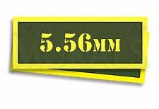 """5.56mm Ammo Can Labels for Ammunition Case 3"""" x 1"""" stickers decals 2 PACK -AG"""