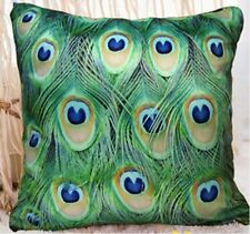 "Peacock feather design decorative throw pillow cushion covers 18""x18"" pillowcase"