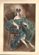 1939 grandi originale Litografia di Constantin GUYS ~ uno dei quattro ritratti