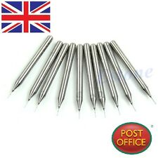 10pcs 0.4mm Carbide Steel Micro Engraving Drill Bits Tool CNC PCB Dremel