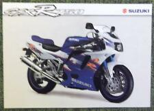 SUZUKI GSX R 750 MOTORCYCLE Sales Sheet 1994