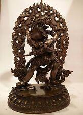 10 inch (25cm) Chakrasamvara Copper Statue Chocolate oxidized