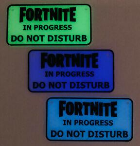 Fortnite Do Not Disturb Glow In Dark Door Sign Wall Plaque Gamer Games Fan Gift