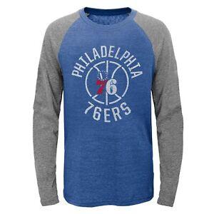 Outerstuff Philadelphia 76ers NBA Kids (4-7) Fadeaway Long Sleeve Raglan Tee