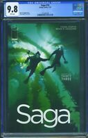 Saga 33 (Image) CGC 9.8 White Pages Brian K. Vaughan story Fiona Staples art